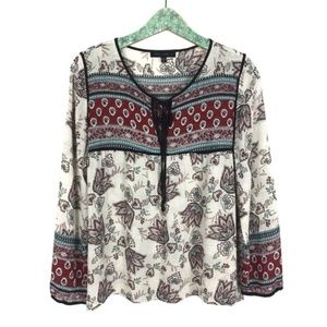 Sanctuary Blouse Small Boho Long Sleeve Floral